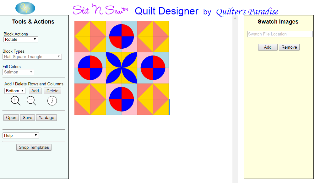 Quilt Designer Screen Shot