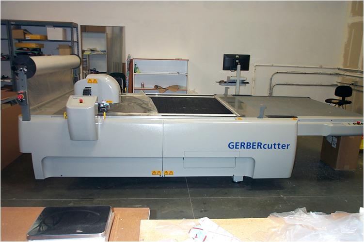 Gerber cutter for cutting fabric
