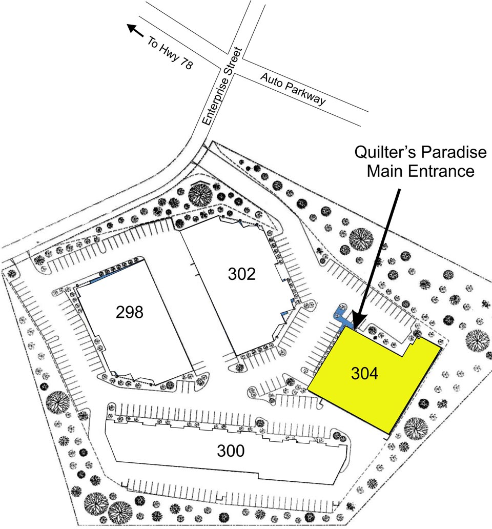 Quilter's Paradise Location Drawing
